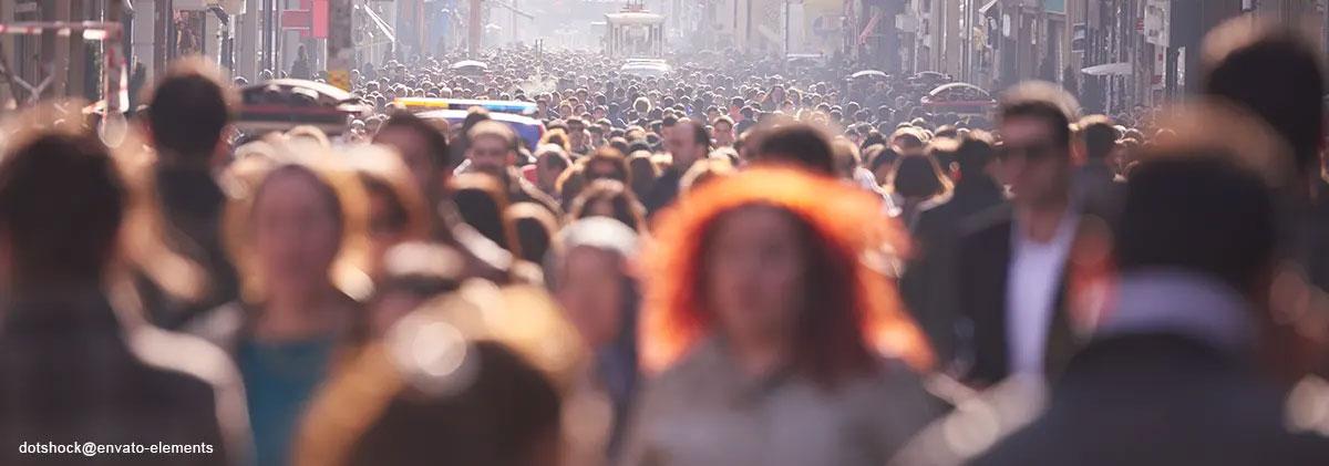 Agoraphobie-Angst vor Menschenmassen